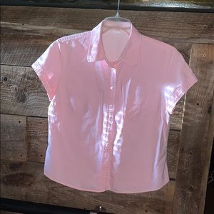 J Crew pink s/slv button down left pocket sz XL